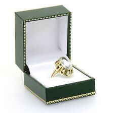Dekorativer Ring aus 585er Gelbold mit ovalem Aquamarin RG 55