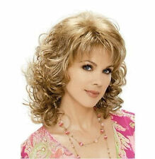 Vogue women's lady Medium mixed blonde brown curly cosplay full wigs/wig