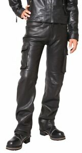 Leather Jeans Pants Mens Pant Men S Style American Motorcycle Kink Trousers 9