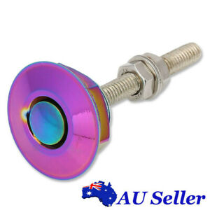 "1x Neochrome 1.25"" 31.75mm New Bonnet Push Button Quick Release Hood Pins Lock"