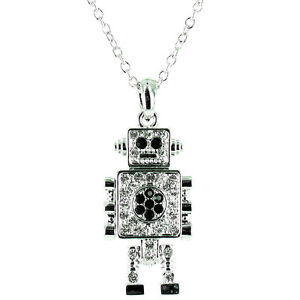 Small Moveable Robot Necklace MORE COLOURS AVAILABLE