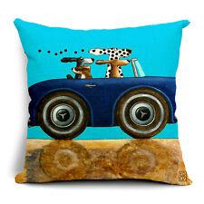 BN fashion dogs driving car LYC blue Mercedes-Benz cushion cover LINEN COTTON