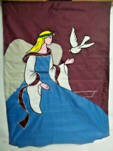 Angel with Dove Large House Flag by CBK #1916