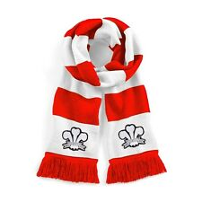 Retro Wales National Rugby Traditional Scarf with Embroidered Logo