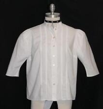 """VICTORIAN WHITE LACE Shirt Blouse Women German COTTON Dress Top B42""""14 M L"""