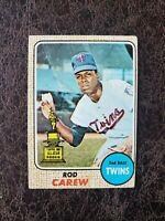 (1) 1968 Topps Baseball Rod Carew #80 - Minnesota Twins Legend