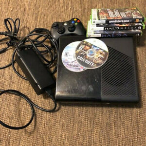 Microsoft Xbox 360 Black Console Model 1538 & Controller Game LOT UNTESTED Parts