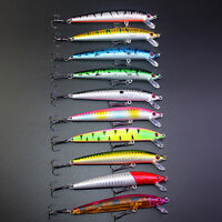 10Pcs Kinds of Fishing Lures Crankbaits Hooks Minnow Baits Tackle Crank
