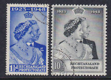 Bechuanaland 1948 Used FU Full Set King George KGVI Silver Wedding Elizabeth