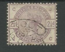 SG190 THE 1884 QV 2,5d LILAC FINE USED CANCELLED BY BEYROUT HOODED CIRCLE,SCARCE