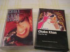 Lot of 2 CHAKA KHAN Destiny I Feel For You Cassettes 1984 1986 Warner Bros 400