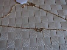 BRAND>NEW>GOLD>COLOURED>SMALL>CHAIN>HEART>NECKLACE>WITH>DIAMANTE>STONE>IN>HEART
