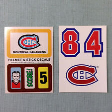 Montreal Canadiens Helmet Stickers Lot of 2 Decals Topps Near Mint Vintage NHL