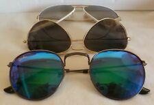 LOT OF 3 RAY BAN SUNGLASSES IN VERY USED CONDITION !!!!!!!!!!!