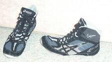 Men'w black/silver Asics Cael Sanderson V5.0 wrestling shoes J202Y , sz 11.5