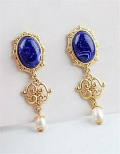 CG5475...BAROQUE STYLE EARRINGS WITH FAUX AGATES - FREE UK P&P