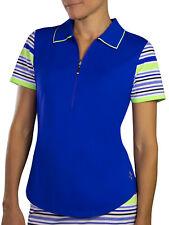 JoFit Women's Ladies Golf Tipped Polo Shirt - Blueberry - Pick Size