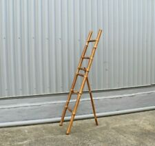 Ladder w stand, bamboo, brown, 200cm(h), decorative, display, storage, decor