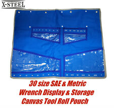 30 size SAE & Metric Canvas Tool Roll Pouch for Spanner Wrench Display & Storage