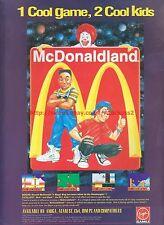 McDonaldland Virgin Games 1993 Magazine Advert #7274