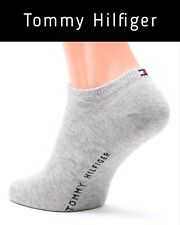 4 Pairs of Tommy Hilfiger Sneaker Basic Ankle Socks Grey UK Size 9 - 11