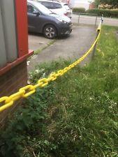 Plastica Catena Barriera 6mm x 10 METRI Giallo Nero Catena di Sicurezza Barriera GIARDINO