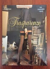 NEW Trasparenze SHEER Seamed CUBAN HEEL stockings -Nude/Black SEAM  *L XL*
