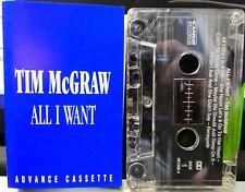TIM McGRAW Advance PROMO Cassette Tape ALL I WANT  AUSTRALIA ~ RARE