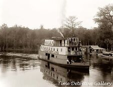 Riverboat at Silver Springs, Oklawaha River, Fl - 1902 - Historic Photo Print
