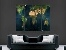 MAP OF THE WORLD POSTER ARTISTIC  PICTURE WALL IMAGE ART PRINT