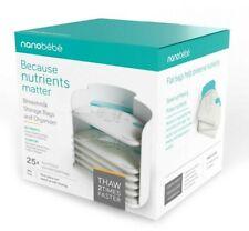 Nanobebe Breastmilk Storage Bags and Freezer Organizer 25x 5oz/150ml Brand New