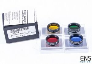 """Orion 4 Filter Set 80A, 15, 58, 25 YRGB - 1.25"""" Boxed JAPAN"""