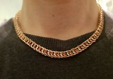 "18"" Persian 4 in 1 Copper and Silver Chain-mail Necklace Hand-made Chain Mail"