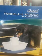 PetSafe Drinkwell Pagoda Dog and Cat Water Fountain, Ceramic, 70 oz.