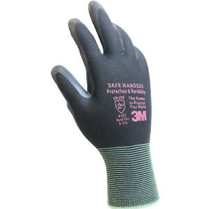 3M Safe Handers 512 Gray Nitrile Foam Coated Work Safety Gloves (10 Pairs) L i