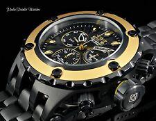 Invicta 52MM Specialty Subaqua BLACK Guilloché Dial Gold Tone Bezel Black Watch