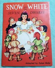 Snow White and the Seven Dwarfs -  JULIAN WEHR - softcover 2004 pop-up book