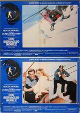 007 Bersaglio Mobile fotobusta poster 2pz Moore Jones bond A View to a Kill A