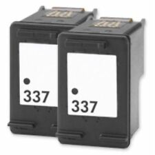 2 Compatible 337 Black Ink Cartridges for HP Photosmart C4180 C4183 Non OEM Twin