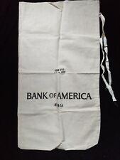 VINTAGE ⭐️ BANK of AMERICA ⭐️DEPOSIT BAG $$$ NEVER USED LARGE HEAVY COIN SACK ⭐️