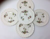 "Copeland Spode Wicker Lane Pattern 7-3/4"" Salad, Dessert, Or Butter Plates Set 5"