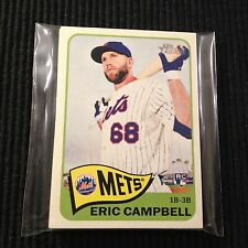 (10) 2014 TOPPS HERITAGE #H588 ERIC CAMPBELL  HIGH NUMBER LOT  NEW YORK METS