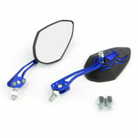 Universal 8mm 10mm Motorcycle Moto Spider Adjusted Rear View Side Mirror Blue A0