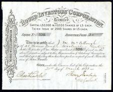 House Investors Corporation Ltd., £5 shares, 3rd Issue, 1883