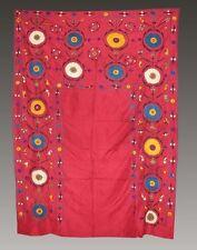 Antique 19010year Uzbek Silk Hand Embroidered Praying Rug Joypysh # 3354