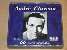 BOITIER 3 CD RARE / ANDRE CLAVEAU 66 SUCCES INOUBLIABLES / EXCELLENT ETAT