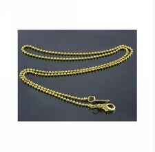 Wholesale Lots 48 1.5MM Gold Plate Copper Ball Chain 1