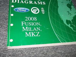 2008 Ford Fusion Mercury Milan Lincoln Mkz Cableado Diagrama Tienda Manual Ewd
