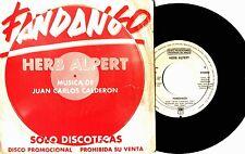 "7"" - HERB ALPERT - FANDANGO (JUAN CARLOS CALDERON) SPANISH PROMO LISTEN - OYELO"