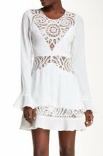 NWT $295 For Love & Lemons Valentina Mini Dress (L) SOLD OUT! Crochet Insets